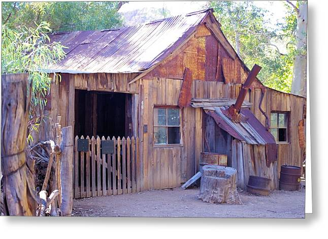 Mining Cabin Greeting Card