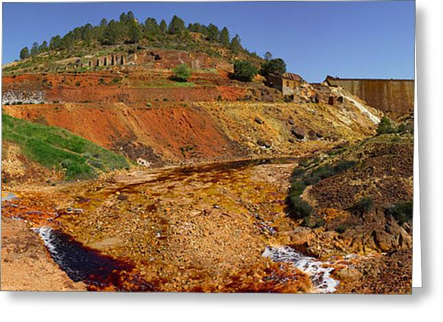 Mining Effects On Landscape At Rio Greeting Card by Panoramic Images