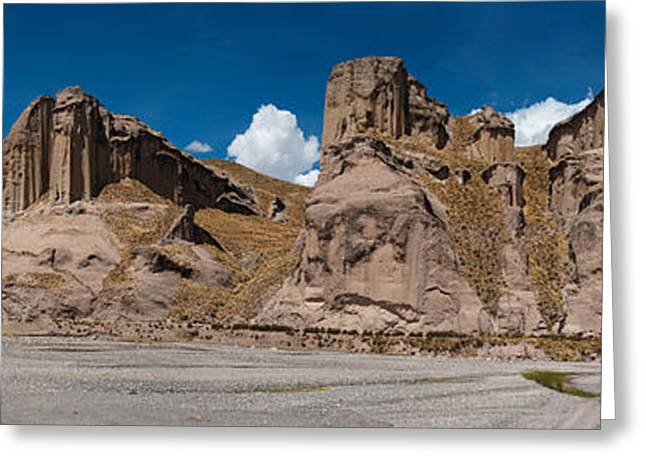 Mining Outpost In The Highlands Close To Colca Canyon Greeting Card by Ulrich Schade