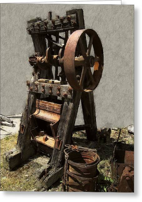Mining Portable Stamp Mill Greeting Card