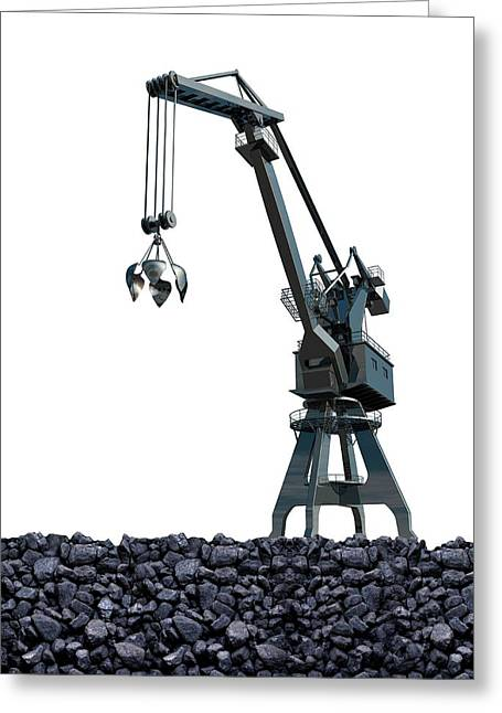 Mining Greeting Card by Victor Habbick Visions