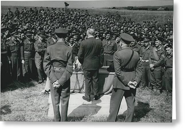 Minister Of Defence Inspects The Territorial�s. Addresses Greeting Card by Retro Images Archive