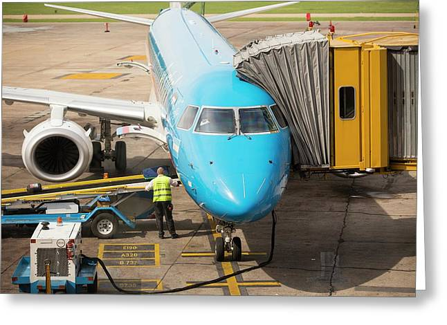Ministro Pistarini International Airport Greeting Card by Ashley Cooper