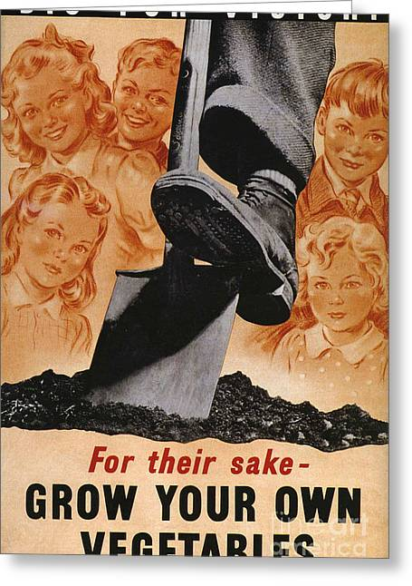 Ministry Of Agriculture 1940s Uk Spades Greeting Card