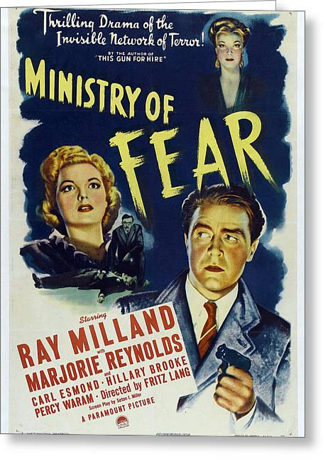 Ministry Of Fear - 1944 Greeting Card