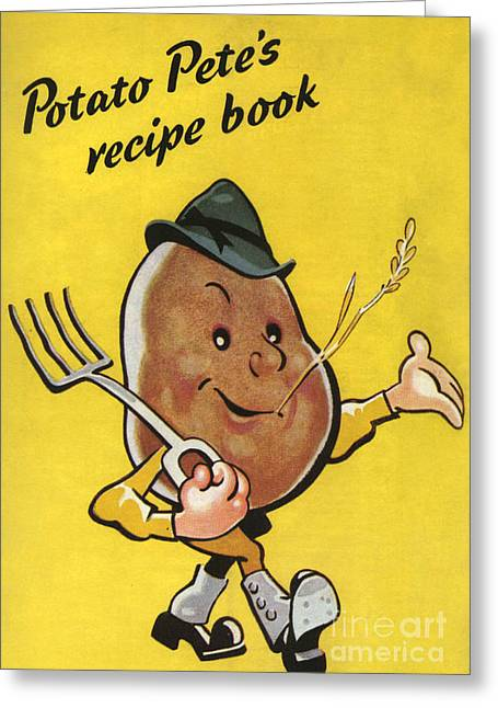 Ministry Of Food  1930s Uk Potatoes Greeting Card