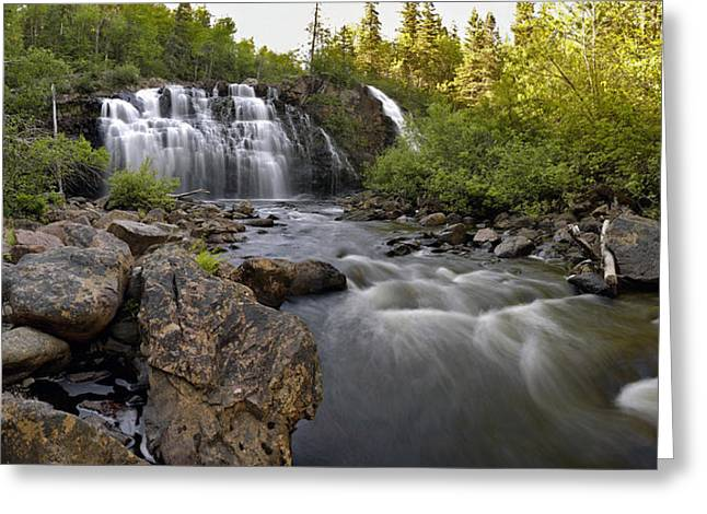 Greeting Card featuring the photograph Mink Falls by Doug Gibbons