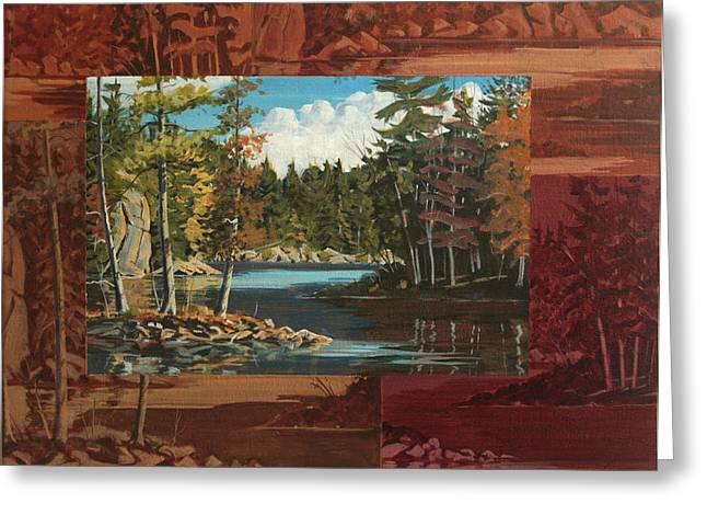 Mink Lake Exit Greeting Card