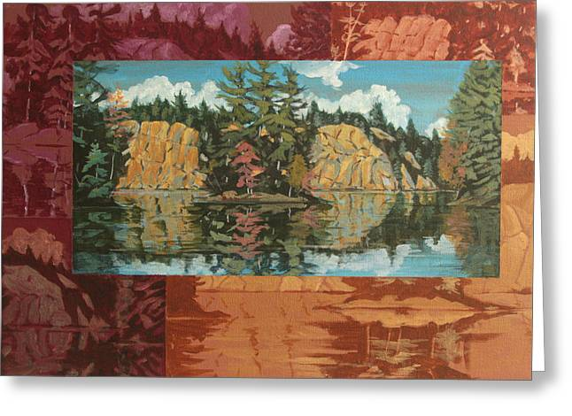 Mink Lake In Fall Greeting Card