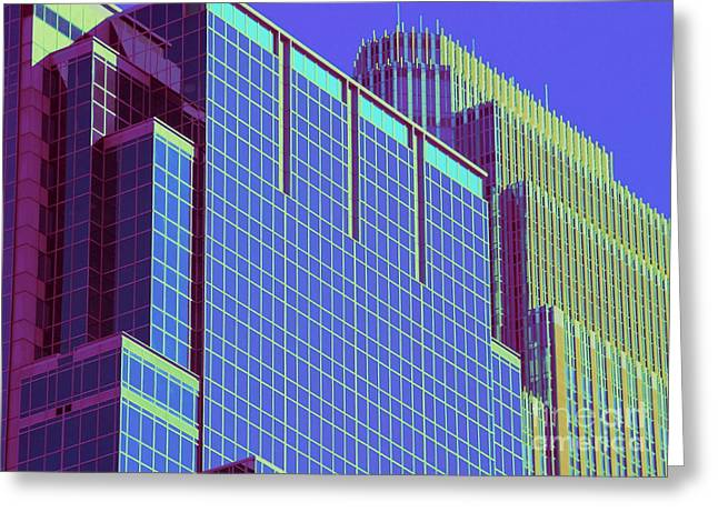 Minneapolis Downtown Blue Greeting Card