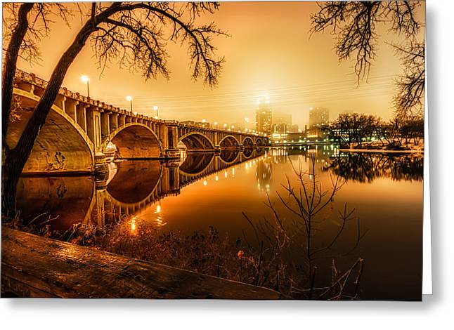 Minneapolis In The Fog Greeting Card by Mark Goodman