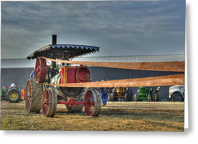Minneapolis Return Flue Threshing Greeting Card