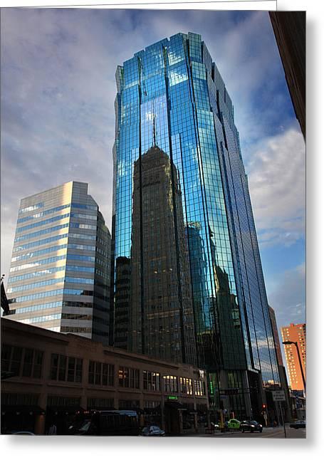 Minneapolis Skyline Photography Foshay Tower Greeting Card by Wayne Moran