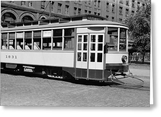 Minneapolis Streetcar 1939 Greeting Card