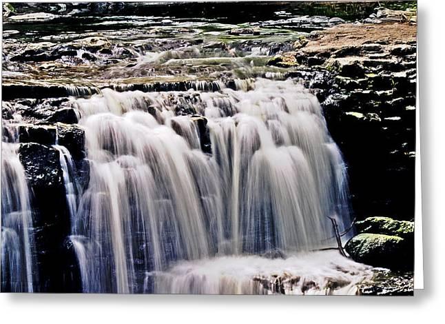 Minneopa Falls Upper Greeting Card by Mark Russell