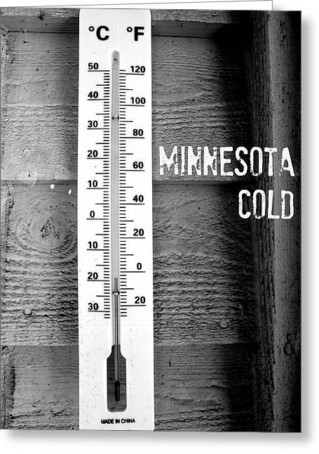 Minnesota Cold Greeting Card by Amanda Stadther