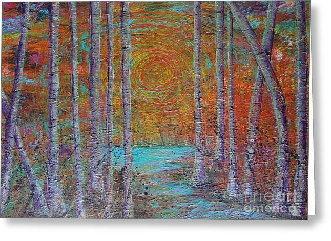 Greeting Card featuring the painting Minnesota Sunset by Jacqueline Athmann