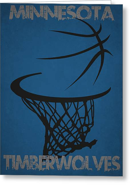 Minnesota Timberwolves Hoop Greeting Card