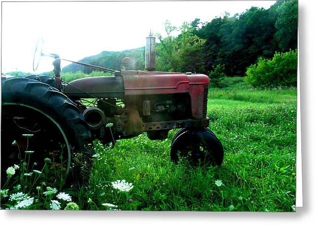Minnesota Tractor Greeting Card by J Montee