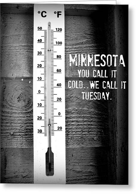 Minnesota Travel Poster Greeting Card by Amanda Stadther
