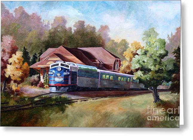 Greeting Card featuring the painting Minnesota Zephyr by Brenda Thour