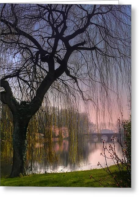 Minnewater Lake Bruges Greeting Card