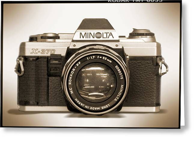 Minolta X-370 Greeting Card