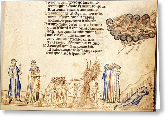 Minos Judging; Carnal Sinners Greeting Card by British Library