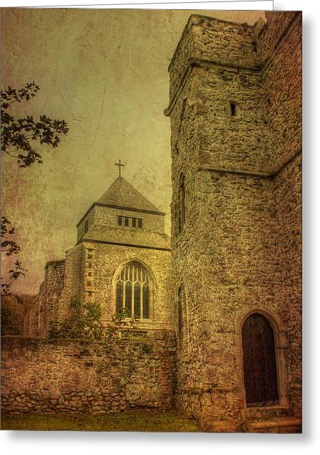 Minster Abbey And Gatehouse Greeting Card by Dave Godden