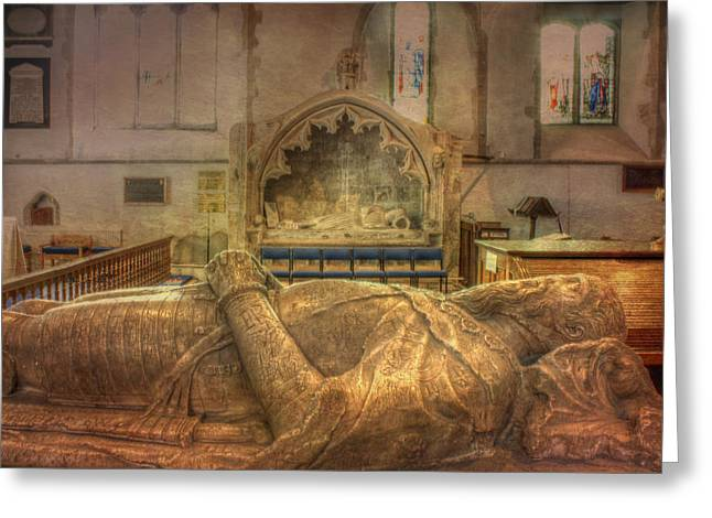 Minster Abbey Interior Greeting Card by Dave Godden