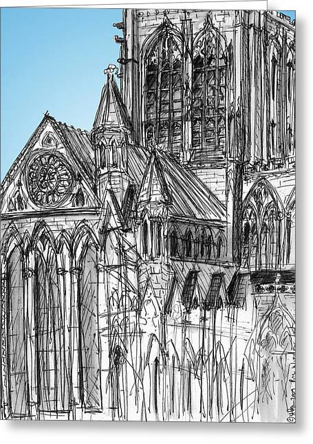 Minster Rose York Greeting Card
