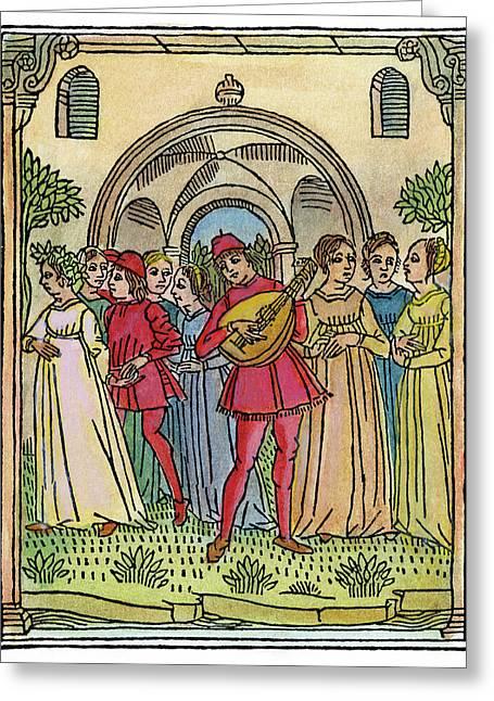 Minstrel, 1492 Greeting Card by Granger