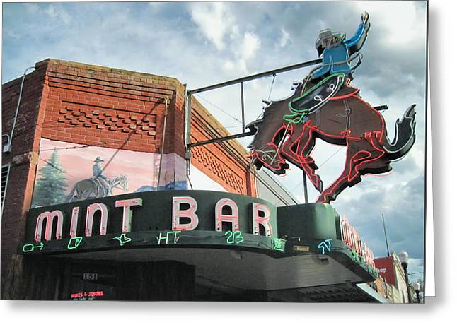 Mint Bar Sheridan Wyoming Greeting Card