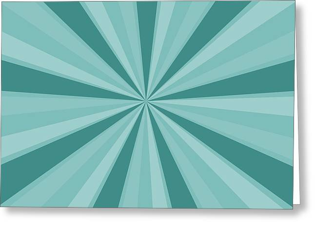 Mint Teal Sun Burst Greeting Card by P S