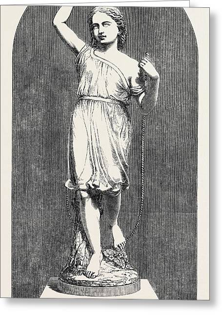 Minton And Co., Thorneycrofts Skipping-girl Statuette Greeting Card by English School