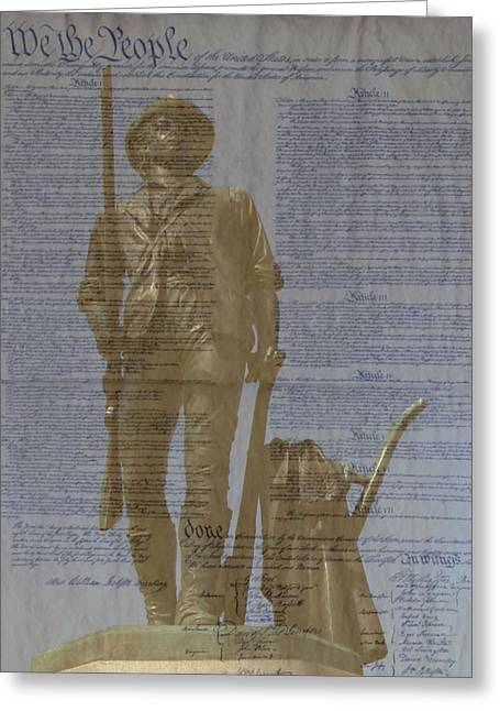 Minuteman Constitution Greeting Card