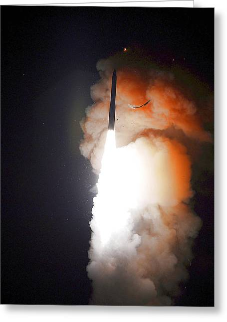 Minuteman IIi Missile Test Greeting Card