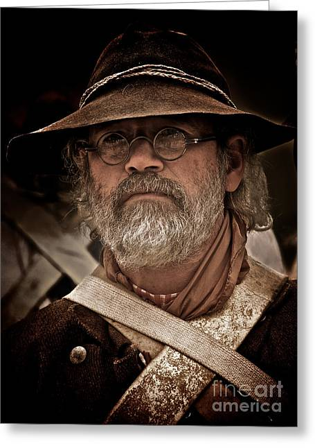 Minuteman Greeting Card by Mark Miller