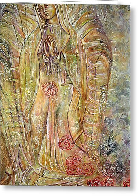 Miracle Of A Virgin  Greeting Card by Karina Llergo