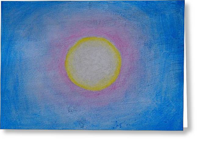 Miracle Of The Sun Greeting Card by Darcie Cristello