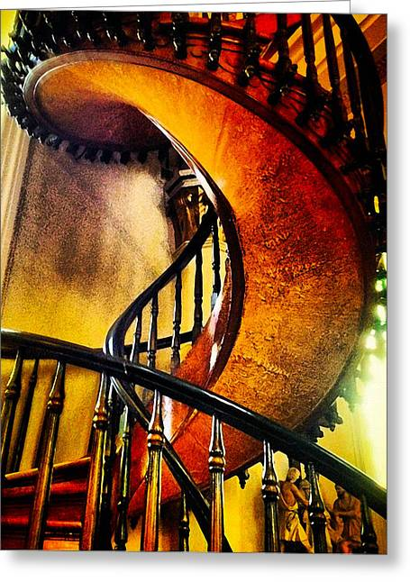Greeting Card featuring the photograph Miracle Staircase by Paul Cutright