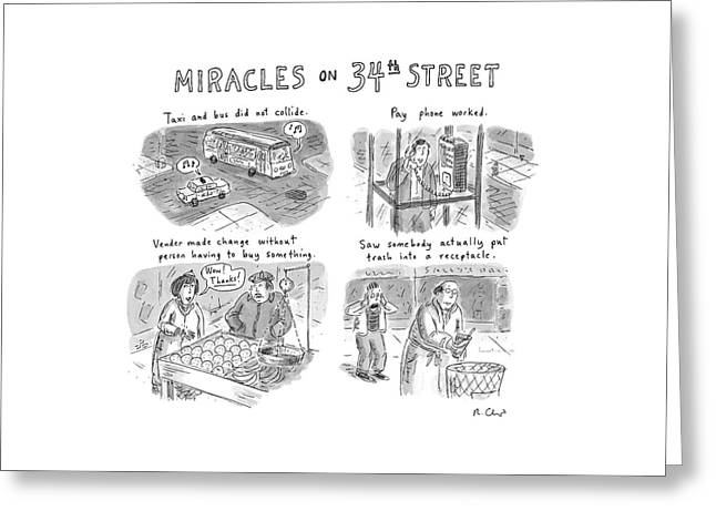 Miracles On 34th Street Greeting Card