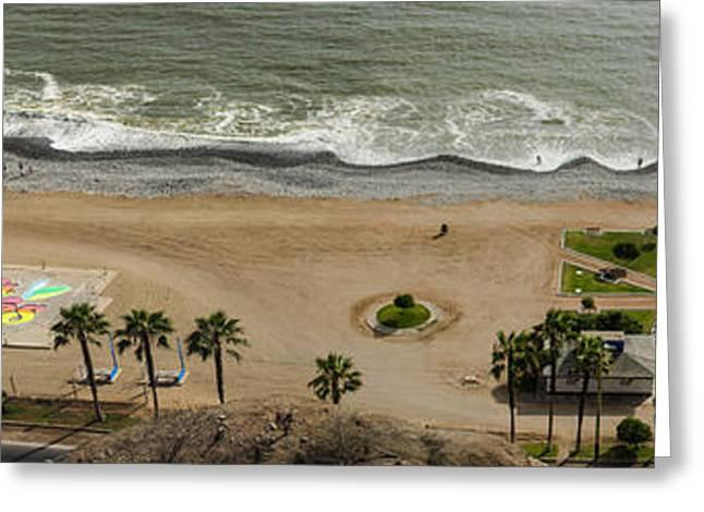 Miraflores Beach Panorama Greeting Card