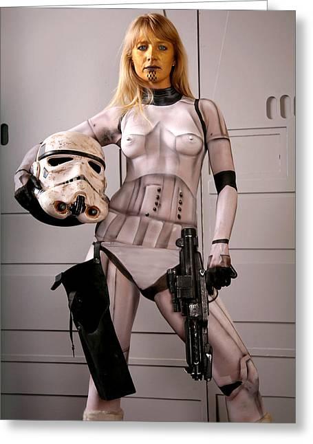 Miralan Stormtrooper Greeting Card by Mark Greenawalt
