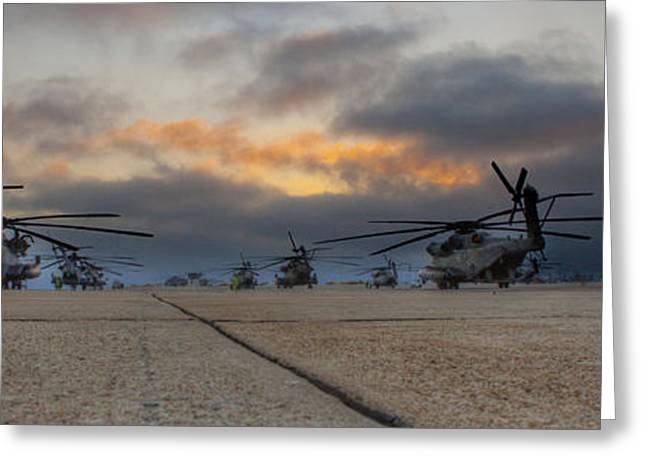Greeting Card featuring the photograph Miramar Tarmac by Ed Cilley