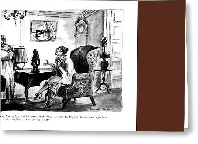 Miranda, I Thought You'd Be Interested In This Greeting Card by Reginald Marsh