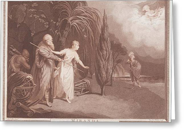 Miranda Shakespeare, The Tempest, Act Greeting Card by After Robert Edge Pine