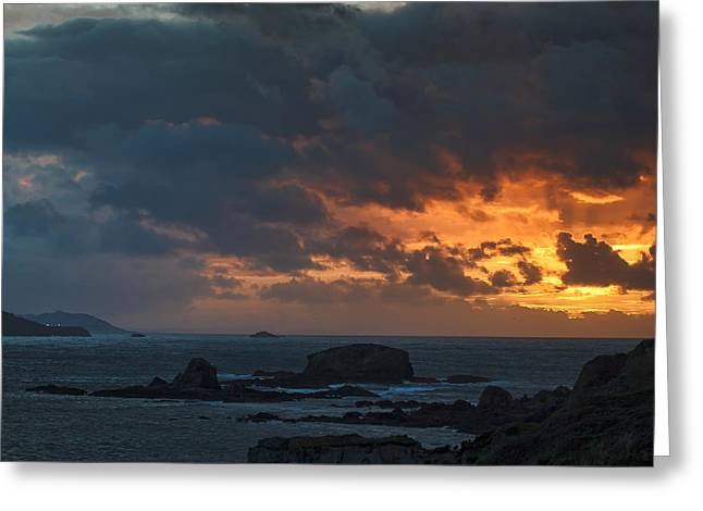 Greeting Card featuring the photograph Mirandas Islands Galicia Spain by Pablo Avanzini