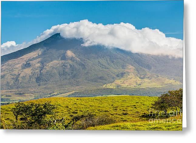 Miravalles Volcano Greeting Card by Christina Klausen