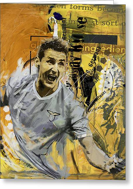 Miroslav Klose - B Greeting Card by Corporate Art Task Force